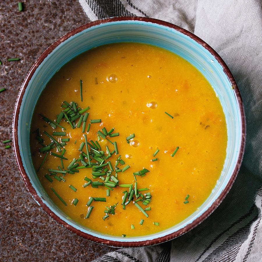 Velouté de carottes au cumin et curcuma