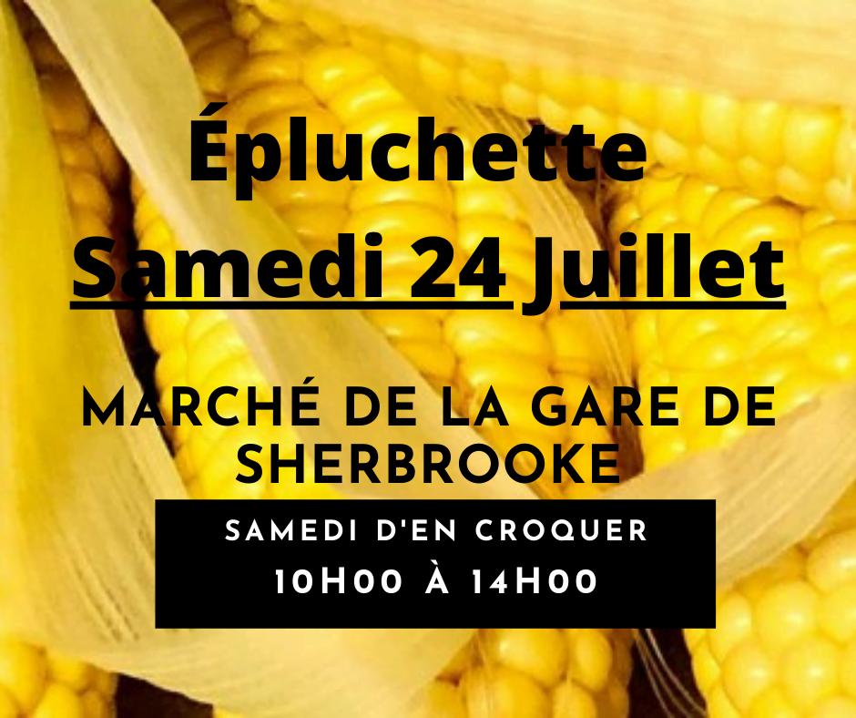 Épluchette de blé d'Inde annuelle du Marché de la Gare de Sherbrooke
